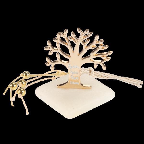 Μπομπονιέρα Γάμου Δέντρο της Ζωής με Ευχές σε Πέτρα