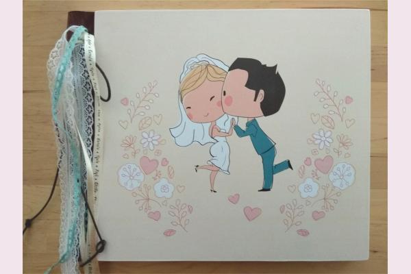 Βιβλίο ευχών γαμπρός & νύφη