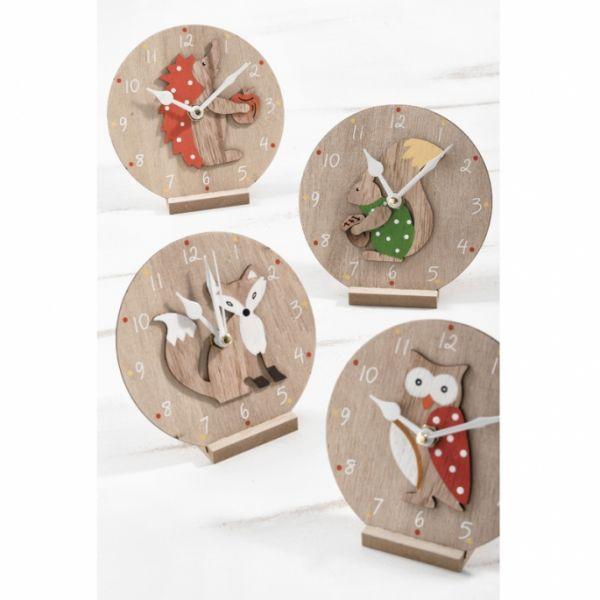 Ξύλινο ρολόι με ζωάκια
