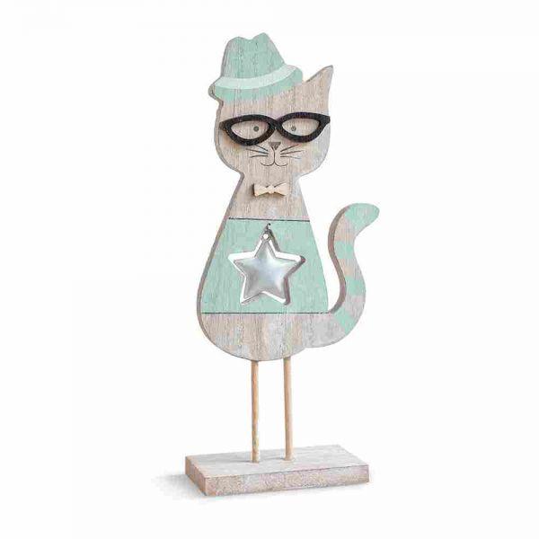 Ξύλινη διακοσμητική γάτα Ξύλινη Διακοσμητική Γάτα.