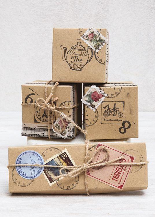 Χάρτινα vintage κουτάκια