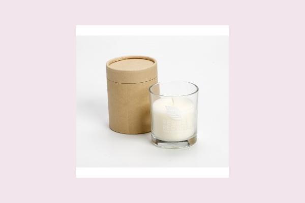 Μπομπονιέρα γάμου ποτήρι με κερί