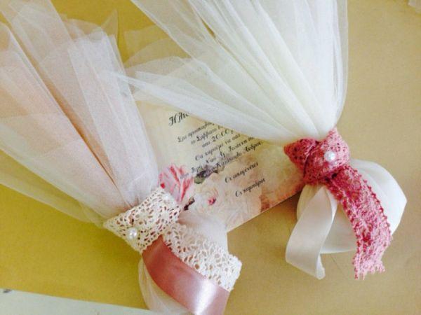 μπομπονιέρες γάμου τούλι vintage διακόσμηση