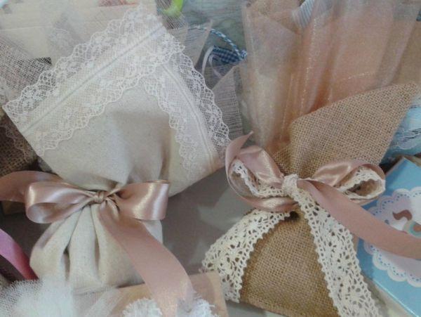 μπομπονιέρες γάμου με δαντέλες vintage