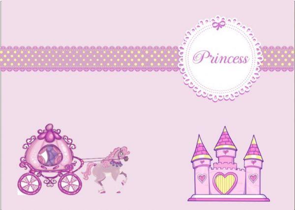 προσκλητήριο βάπτισης με θέμα πριγκίπισσα - οικονομικά προσκλητήρια