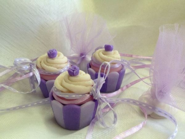 μπομπονιέρα βάπτισης σαπουνάκια cup cake