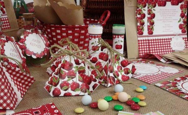 cherry set μπομπονιέρες