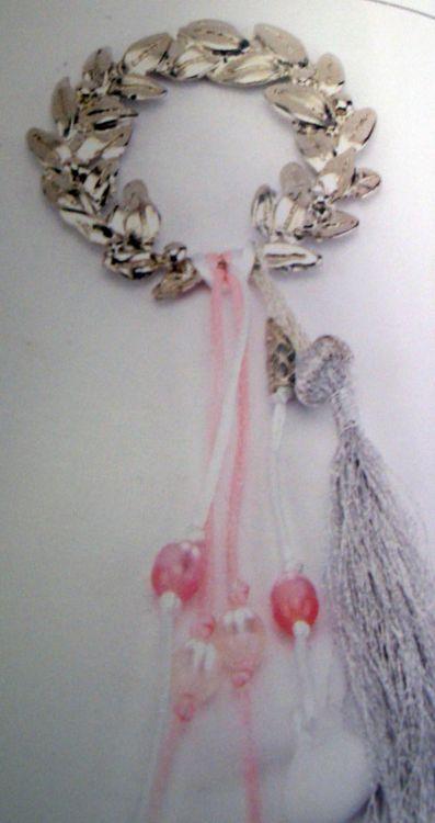 μπομπονιέρα γάμου χειροποίητη δημιουργία στεφανάκι μεταλλικό