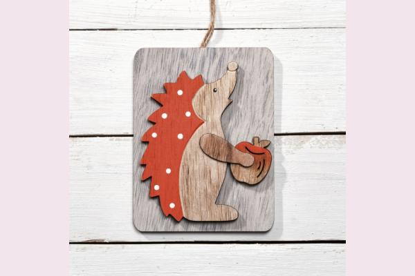 Ξύλινα διακοσμητικά καδράκια με ζωάκια του δάσους
