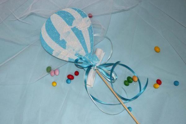 στικ προσκλητήριο βάπτισης αερόστατο για αγοράκι