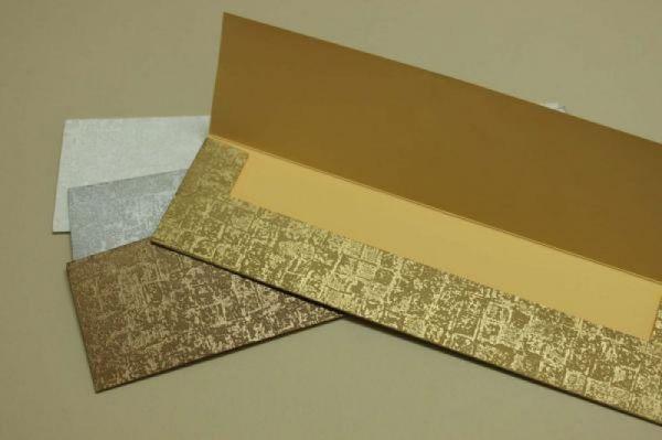 στενός φάκελος για προσκλητήριο γάμου στενόμακρο σε φυσικά γήινα χρώματα μοντέρνο σχέδιο (καλούπι 15)