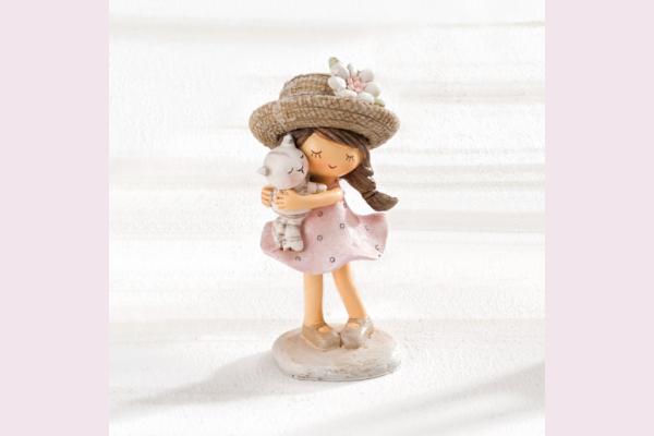 Διακοσμητικό Κοριτσάκι με γατούλα