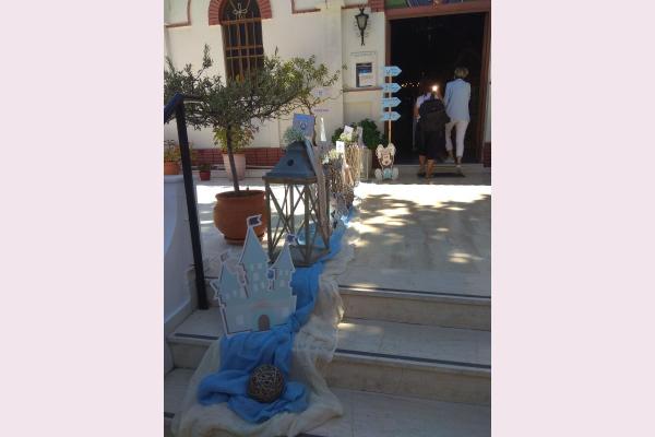 Στολισμός βάπτισης με θέμα Mickey prince.