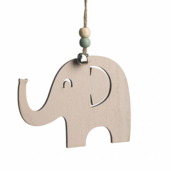 Ξύλινο κρεμαστό ελεφαντάκι