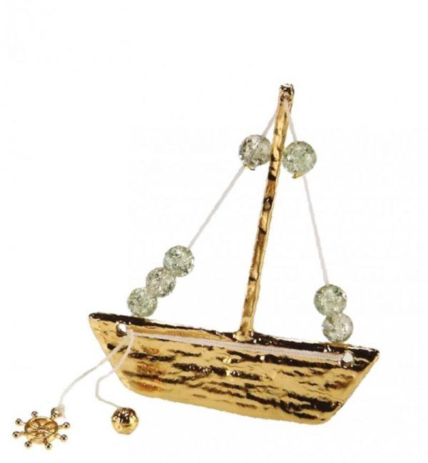 μεταλλικό καράβι μπομπονιέρα γάμου και βάπτισης