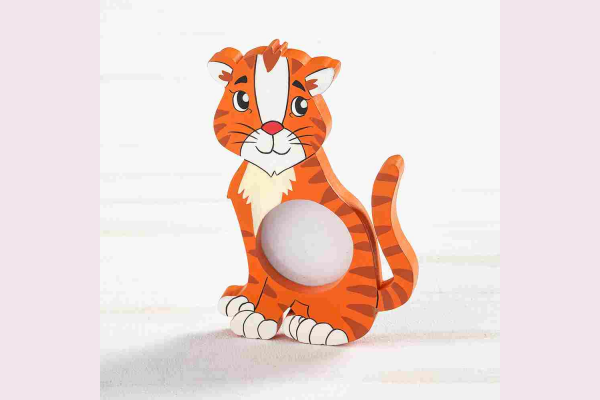Ξύλινη μπομπονιέρα σε σχήμα τίγρη