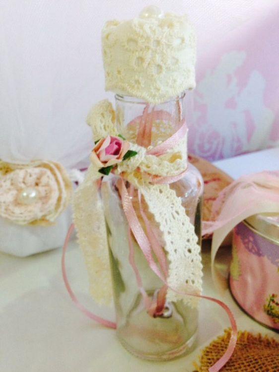 ρομαντικό προσκλητήριο μπουκάλι vintage