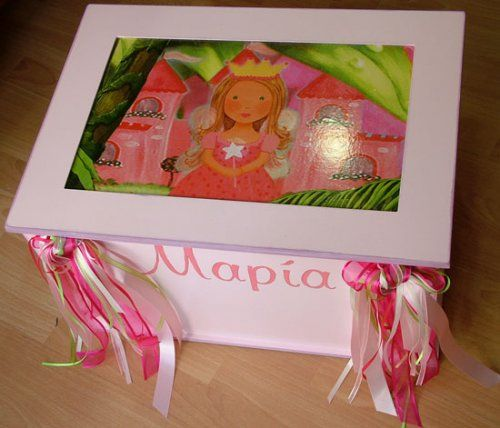 Χειροποίητο κουτί βάπτισης πριγκίπισσα