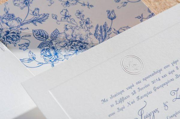 Ρομαντικό προσκλητήριο με λουλούδια