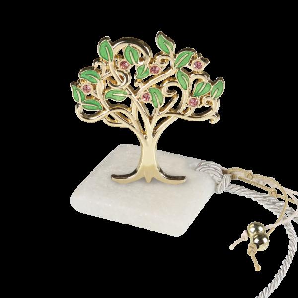 Μπομπονιέρα Γάμου-Βάπτισης Δέντρο με Στρασάκια σε Πέτρα