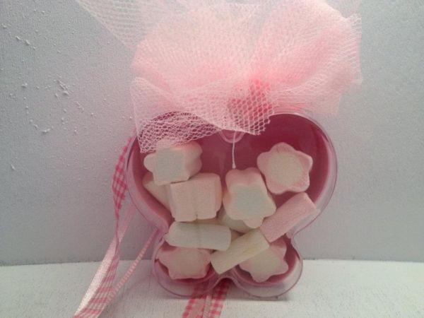 κουτάκι μπομπονιέρα βάπτισης πεταλούδα με ζαχαρωτά