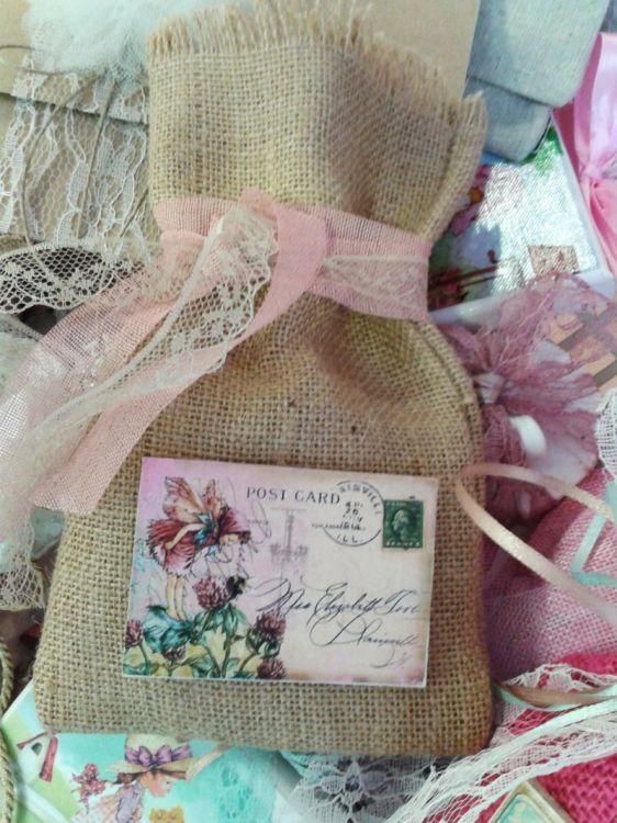 μπομπονιέρες πουγκιά με μαγνήτη ξωτικά flower fairies
