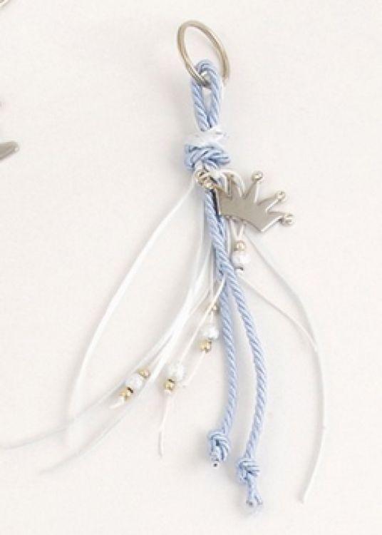 μπομπονιέρα με κορώνα κρεμαστή με κουφετάκια ένα ένα και χάντρες