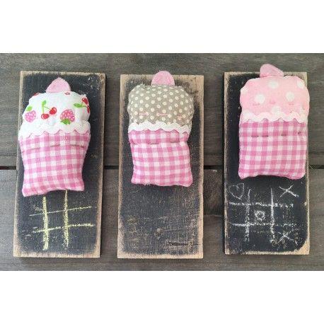 Καδράκια-Πινακάκια με cupcakes