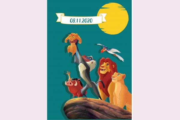 Προσκλητήριο βάπτισης lion king.